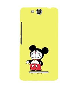 EPICCASE Dorae mickey Mobile Back Case Cover For Micromax Canvas Juice 3 Q392 (Designer Case)