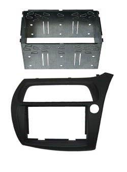 Adaptateur autoradio 2 DIN + cage pour Honda Civic