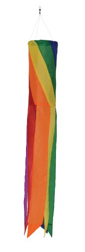 In the Breeze Rainbow Diagonal Value Sock/Windsock, 33-Inch