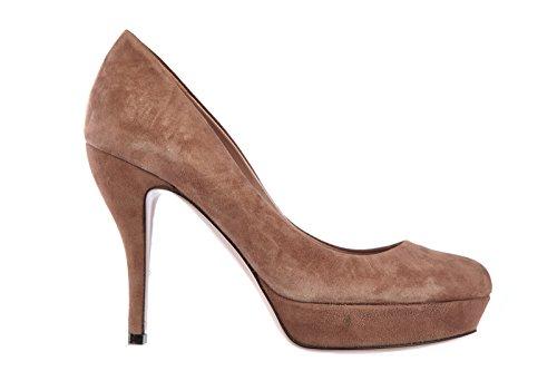 Gucci decolletes decoltè scarpe donna tacco plateau camoscio marrone EU 40 309999 C2000 5405
