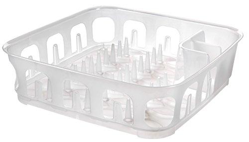 223901Abtropfgestell quadratisch 12Teller Polypropylen transparent 39,1x 39,1x 10,9cm