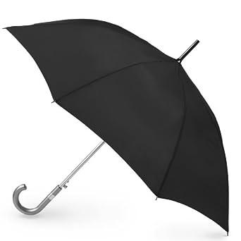 Totes Classics Ladies Automatic Stick Umbrella, Black, One Size