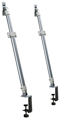 平安伸銅工業 液晶テレビ用耐震固定ポール シルバー 対応テレビサイズ32~60型 LEQ-45