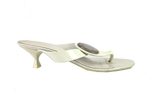 HOGAN sandali 35 EU bianco vernice AH690