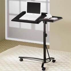 Buy Low Price Comfortable Desks Laptop Computer Stand with Adjustable Swivel Top and Casters by Coaster (B0051PC5BG)