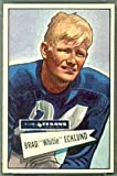 1952 Bowman Large (Football) Card# 35 Brad Ecklund of the Dallas Texans Ex Condition