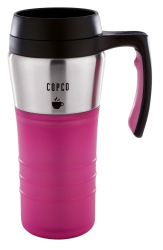 Copco 16-Ounce Contemporary Thermal Travel Mug, Bubble Gum Pink
