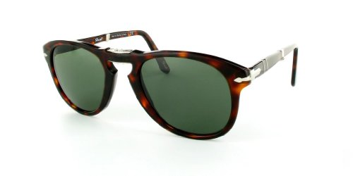 persol lunettes de soleil steve mcqueen po 0714 714 24 31 havana gris vert 52mm mamah abila. Black Bedroom Furniture Sets. Home Design Ideas