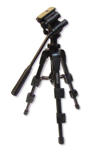 Carson Triforce 3-Way Pan-Head Tabletop Tripod, Black, (Tf-100)