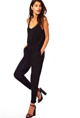 purpura erizo womens jumpsuit with cami straps high waist. Black Bedroom Furniture Sets. Home Design Ideas