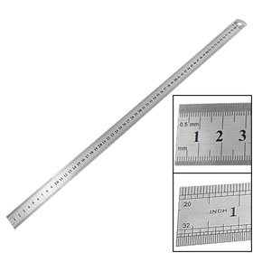 60cm 24 Inch Stainless Metal Straight Ruler Measuring Tool