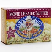 Cousin Willie's Microwave Popcorn, Movie Theater Butter, 3ct, 3.5oz Bags