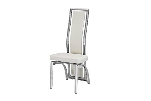 2c93e407a0 Deals For Mayfair High Back Faux Leather & Chrome Dining Chair White ...