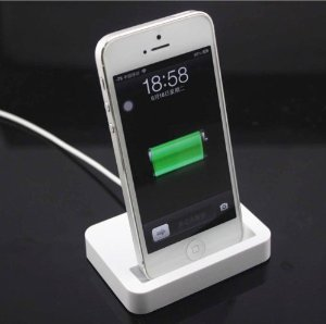 Big Dragonfly Candy Color Series Mini Portable Charging Dock Cradle Desktop Charger Station For Apple Iphone 5 Ipod Touch 5 Box Package White