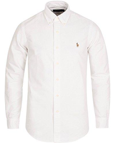23d7fb63 Polo Ralph Lauren Men's Long Sleeve Button Down Oxford Shirt (Large, White)
