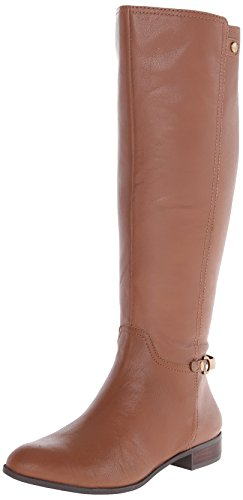 AK Anne Klein Women's Kacey Leather Riding Boot, Cognac, 8.5