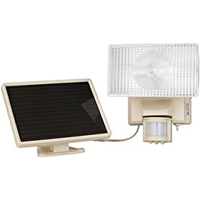 Maxsa Solar-Powered Motion-Activated Security Light, 10 Watt Halogen