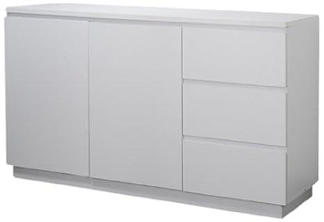 Phönix 156201WE Manhattan - Sideboard mit 2 Turen, 3 Schubladen und Griffleisten