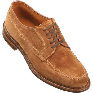 Alden Men's Handsewn 5 Eyelet Blucher Oxford Calfskin Brown Suede Boots - 73993