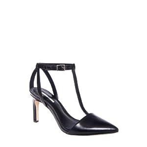 BCBGeneration Zahara High Heel Pointed Toe Dressy T-Strap Pump - Black