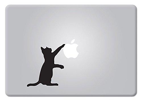 Curious Cat Version 2 Apple Macbook Decal Vinyl Sticker Apple Mac Air Pro Retina Laptop sticker (Mac Apple Decal compare prices)
