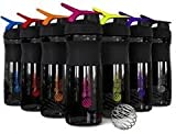 BlenderBottle 28-Ounce Sport Mixer Colors Vary (Black Bottles / Color Tops)