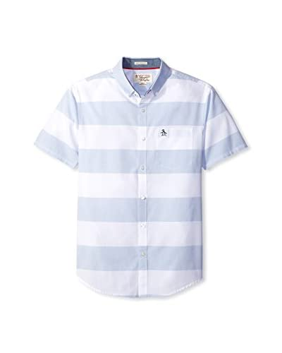 Original Penguin Men's Large Horizontal Deck Stripe Shirt