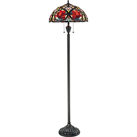 Quoizel TF879F Larissa 2 Light Tiffany Floor Lamp