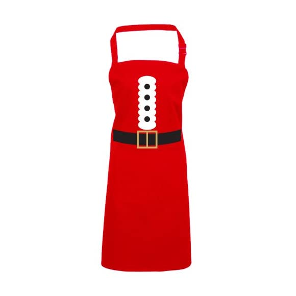 Batch1 Santa Claus Costume Festive Fun Novelty Father Christmas Chefs Apron