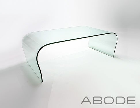Glass Curve Coffee Table Small