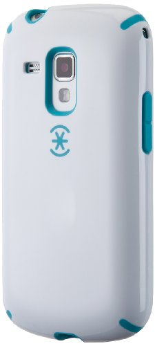 Speck Products SPK-A1853 CandyShell Glossy Hard Shell Case for Samsung Galaxy Ace II - 1 Pack - Retail Packaging - White/Peacock Blue