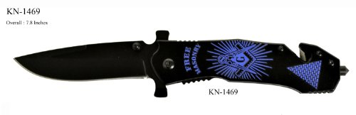 Masonic Folding Knife Blue and Black 1469