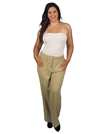 599fashion Plus size dress pants w/front pockets