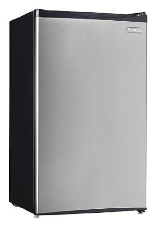 Danby Designer 3.3 cu.ft. Compact Refrigerator, Black/ Spotless Steel