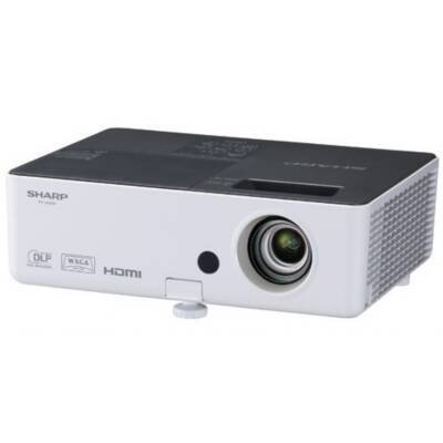 Sharp PG-LW2000 3D Ready DLP Projector 720p HDTV 1280x800 WXGA 2000:1 2800 lumens 16:10 HDMI VGA Speakers White
