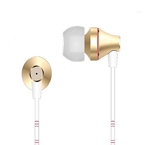 Cuffie Auricolari per Smartphone eXtreme X8 GOLD Auricolari Cuffie con Cavo AUX 3.5mm Premium Headset Stereo con Microfono integrato per iPhone 6s plus/6s, iPhone 6/6 Plus, iPhone 5s/5c/5/4s, iPad, LG G2, Samsung Galaxy S6 Edge+/S6 Edge/S6/ S5/S4/S3, Note 4/Note 3/Note 2, Sony, Huawei ed altri Smartphone...
