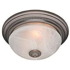 Attrayant Hunter 81003 Ashbury Bathroom Fan Imperial Bronze With Beaded Detail And  Swirled Marble Glass