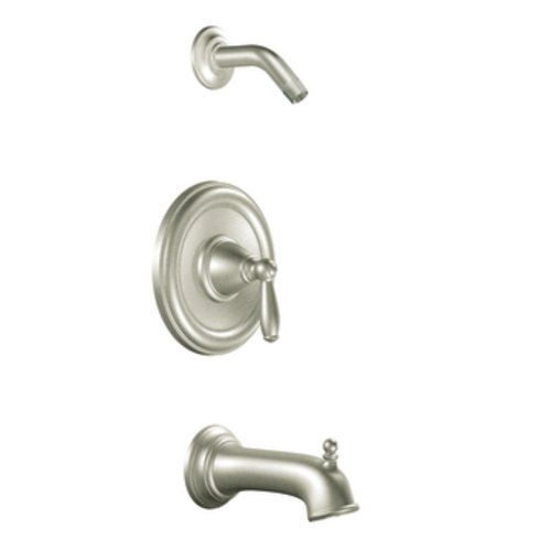 Moen T2153NHBN Brantford Posi-Temp Tub and Shower Trim Kit without Showerhead and Valve, Brushed Nickel (Brushed Nickel Tub Fixtures compare prices)