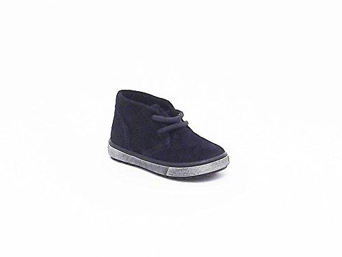 Docksteps scarpe bambino polacchina in crosta colore blu