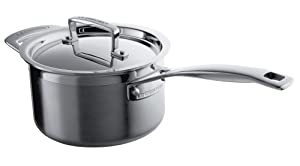 Le Creuset 3-Ply Stainless Steel Saucepan with Lid - 16 cm