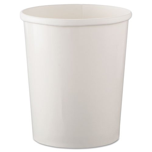 SOLO Cup Company Flexstyle Double Poly Paper Containers, 32 oz, White, 25/Pack - 500 containers per case, 25 per pack.