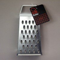 Chef Craft 20966 Pyramid Grater, 6-Inch, Silver/White