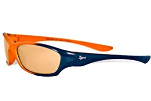 MLB Detroit Tigers Prodigy Sunglasses with Bag, Navy and Orange, Child by Maxx