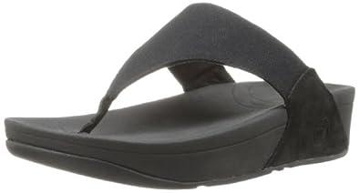 Fitflop Lulu Canvas Sandals Black 3 UK