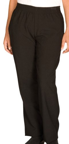 Edwards Garment Women's Two Side Pockets Pull On Pant, BLACK, XX-Small (Chef Pants With Side Pocket compare prices)