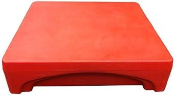 """Forte 8002295 Mini Merchandiser, 24"""" L x 24"""" W x 6"""" H, Red"""
