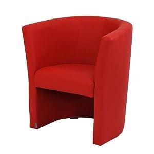 fauteuils cabriolet simili cuir rouge w042 03. Black Bedroom Furniture Sets. Home Design Ideas