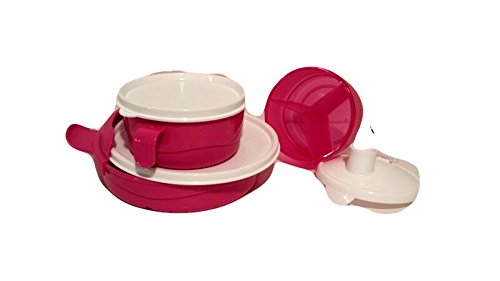 Tupperware Feeding Set Divided Bowls with Airtight Lids Baby Stages 3 Bowl Bundle