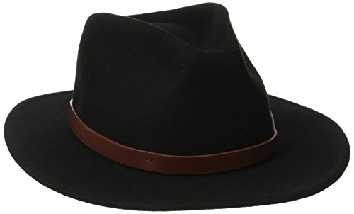 Brixton Men's Messer Fedora Hat, Black, Medium