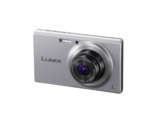 Panasonic Lumix DMC-FS50EB-S Compact Camera - Silver (16.1MP, 5x Optical Zoom, Super Slim Design, 24mm Ultra Wide Angle, HD Video Recording, Micro SD) 2.7 inch LCD